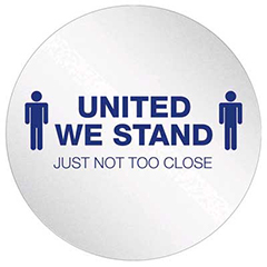 """Personal Spacing Disk - """"United We Stand"""" (6pk)"""