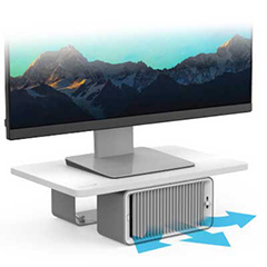Cool View Wellness Monitor Stand with Desk Fan